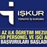 Türkiye İş Kurumu (İŞKUR) ile 66.359 personel ve işçi alımı sürüyor! Başvuru şartları neler?