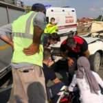 Yolun ortasında aniden duran otomobil hurdaya döndü: 1 ölü, 2 yaralı