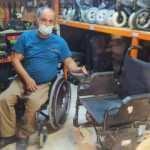 Şanlıurfa'da engelli Hüseyin Şat tamirci bulamadı, kendi tamirci dükkanını açtı