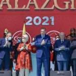 Başkan Erdoğan ve Devlet Bahçeli Malazgirt Milli Park'ında bir araya geldi