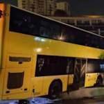 istanbul'da 2 katlı özel halk otobüsü refüje çıktı!