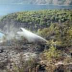 Nemrut Krater Gölü çevresinde çıkan yangın kontrol altında