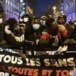 Fransa'da Afganistan halkı için destek gösterisi