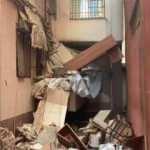 Güngören'de balkon çöktü! 5 katlı bina mühürlenerek boşaltıldı