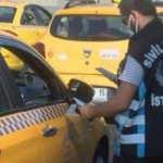 Taksim'de taksicilere polis denetimi
