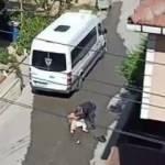 Boşanmak isteyen eşini sokak ortasında kabusu yaşattı