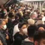 Mahmutbey Mecidiyeköy Metro hattında skandal görüntü!