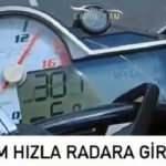 301 kilometre hızla radara girdi, 1339 lira ceza kesildi
