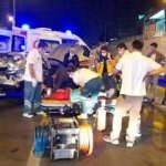 D-100 karayolunda otomobiller çarpıştı: 5 yaralı
