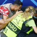 Ronaldo'nun şutunda baygınlık geçiren güvenlik görevlisi: Öldüğümü sandım
