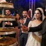 Düğün pastası yerine kadayıf kestiler