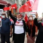 Evlat nöbetindeki ailelerin sesini bastırmaya çalışan HDP'ye sloganlı yanıt!
