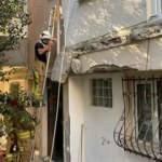 Kadıköy'de 2 balkon gürültüyle çöktü! Mahalleli sokağa döküldü