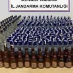 Pamukkale'de 338 şişe sahte içki ele geçirildi
