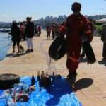Samsun sahilinden 510 kilogram atık toplandı