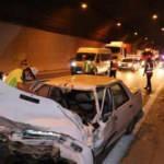 TEM'de zincirleme trafik kazası: 1 yaralı