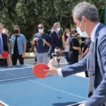 Vali Yerlikaya ve Bakan Özer'den masa tenisi maçı