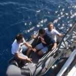 FETÖ şüphelileri denizde yakalandı