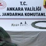 Ankara'da 31 adet tarihi eser ele geçirildi; 2 gözaltı