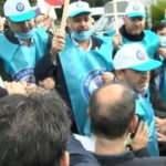 İBB ulaşım haklarını ellerinden aldı! Sağlıkçılar eylem yaptı