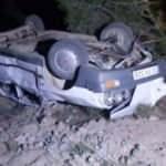 80 metreden düşen otomobilde emniyet kemeri kurtardı
