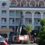 Antalya'da otel saunasında yangın! Hastaneye kaldırıldılar