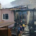 Manisa'da 3 ev yandı, 1 kişi öldü