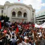 "Tunus'ta Cumhurbaşkanı Said'in ""yetki"" kararlarına karşı gösteri"