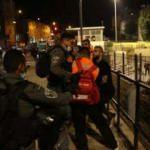 İsrail polisi Filistinli gençlere müdahale etti