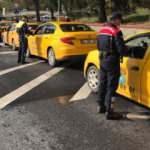 İstanbul'da jandarmadan taksicilere denetim