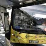 İETT otobüsü durağa girdi! Faciadan dönüldü!