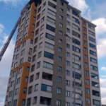 Kayseri'de 13 katlı apartmanda yangın