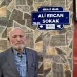 Sanatçı Ali Ercan'ın adı evinin bulunduğu sokağa verildi
