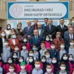 TBMM Başkanı Mustafa Şentop Hacı Murad-ı Veli Anadolu İmam Hatip Ortaokulunu ziyaret etti