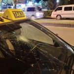 Zonguldak'ta yolun karşısına geçmek isteyen genç kıza taksi çarptı