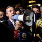 Ali Koç havaalanında megafonla taraftara seslendi!