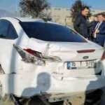 Belediye başkan yardımcısı ve daire müdürü kazada yaralandı