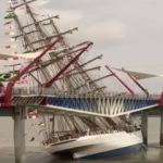 Ekvador'da gemi yaya köprüsüne çarptı