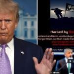 Trump'a hacker şoku! Dikkat çeken Erdoğan ve Türkçe mesaj detayı