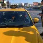 Yolcu seçtiği için aracı çekilen taksi sürücüsünden gazetecilere tepki
