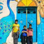 Bağdat'ın köhne sokakları rengarenk oldu