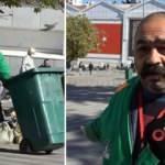 Çöp toplarken süpürgeye içinde 650 bin TL olan çanta takıldı!