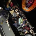 Yunan unsurlarınca geri itilen 46 kaçak göçmen kurtarıldı