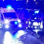 Hasta taşıyan ambulans devrildi! 1 hasta ve 1 sağlık çalışanı yaralı