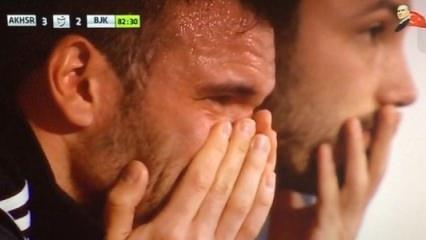 Beşiktaşlı futbolcu hüngür hüngür ağladı