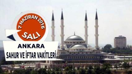 Ankara İFTAR ve SAHUR saati - 7 Haziran 2016
