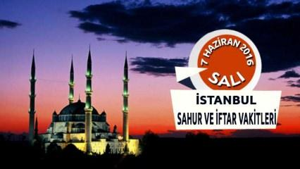 İstanbul İFTAR ve SAHUR vakitleri - 7 Haziran 2016