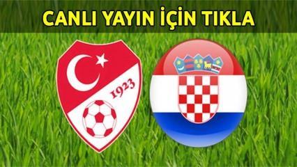 Türkiye Hırvatistan maçı TRT 1 4K canlı yayın izle