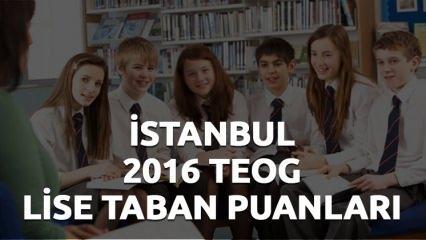 2016 MEB TEOG lise taban puanları İstanbul