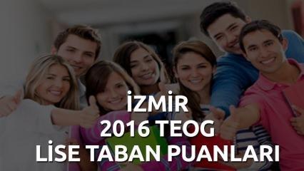 İzmir'deki liselerin TEOG taban puanları kaç?